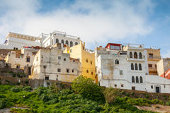 Tánger, Marruecos Casas vivas viejas en Medina fotos de archivo libres de regalías