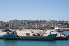 Tánger, Tánger, Tánger, Marruecos, África, África del Norte, costa de Maghreb, Estrecho de Gibraltar, mar Mediterráneo, Océano At Fotografía de archivo libre de regalías
