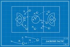 Tática da lacrosse no modelo Fotos de Stock