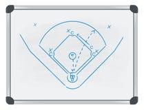 Tática do basebol no whiteboard Imagem de Stock Royalty Free
