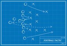 Tática do futebol no modelo Imagens de Stock