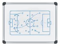 Tática do futebol no whiteboard Imagem de Stock Royalty Free