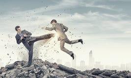 Táticas agressivas do negócio Fotografia de Stock