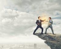Táticas agressivas do negócio Fotografia de Stock Royalty Free
