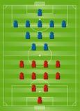 Táticas da formação do futebol Fotos de Stock