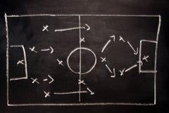 Táticas da formação do futebol Foto de Stock Royalty Free