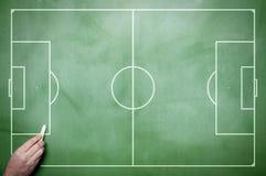 Táticas do futebol Fotografia de Stock