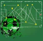 Táticas do futebol ou do futebol Foto de Stock Royalty Free