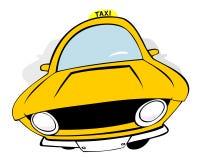 Táxi Imagens de Stock Royalty Free