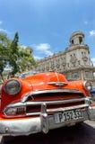 Táxi alaranjado cubano Foto de Stock