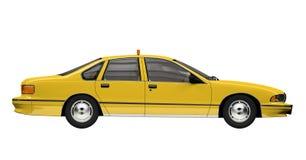Táxi amarelo isolado sobre o whie Fotografia de Stock
