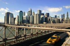 Táxi amarelo, New York City fotografia de stock
