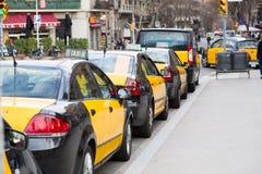 Táxi Barcelona Fotografia de Stock Royalty Free