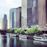 Táxi da água de Chicago Foto de Stock Royalty Free