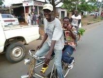 Táxi da bicicleta de Burundi Imagens de Stock Royalty Free