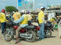 Táxi da motocicleta em Benin Fotos de Stock