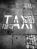 Táxi da palavra Fotografia de Stock