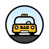 Táxi de táxi amarelo Fotos de Stock Royalty Free