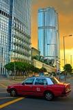 Táxi de Hong Kong fotografia de stock