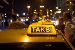 Táxi de Istambul foto de stock royalty free