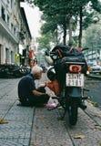 Táxi de Motobike em Sai Gon, Vietname fotos de stock royalty free