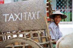 Táxi de Myanmar foto de stock