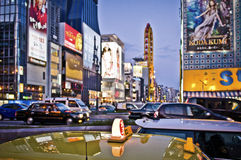 Táxi de Osaka Fotografia de Stock Royalty Free