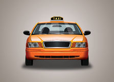 Táxi de táxi amarelo Imagens de Stock