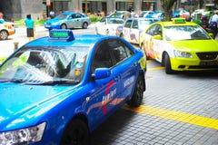 Táxi de táxi de Singapura imagens de stock