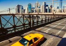 Táxi de táxi em New York Fotografia de Stock