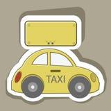 Táxi do carro Fotografia de Stock