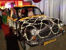 Táxi do casamento Imagem de Stock Royalty Free