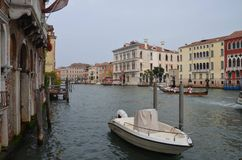 Táxi do rio na cidade de Veneza!! Fotos de Stock Royalty Free