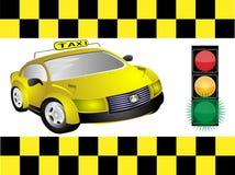 Táxi e sinal ilustração stock