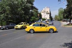 Táxi em Atenas Greece Imagem de Stock Royalty Free