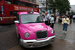 Táxi em Londres 5 Foto de Stock Royalty Free