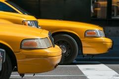 Táxi em New York City Fotos de Stock