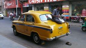 Táxi. Kolkata. Índia foto de stock