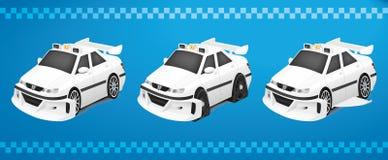 Táxi Marselha 3 em 1 ilustração royalty free
