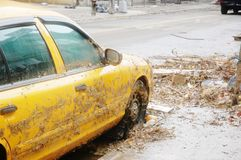 Táxi no outono Imagem de Stock