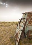 Táxi oxidado abandonado do caminhão imagens de stock