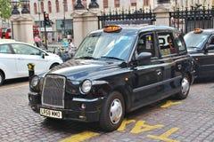 Táxi preto de Londres Imagem de Stock Royalty Free