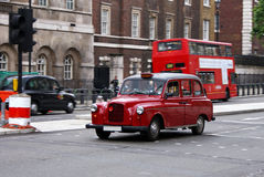 Táxi velho de Londres Foto de Stock Royalty Free