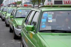 Táxis chineses Fotografia de Stock Royalty Free