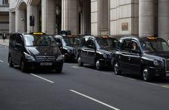 Táxis de Londres fotos de stock