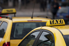 Táxis de táxi Foto de Stock Royalty Free