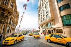 Táxis em Istambul Imagens de Stock