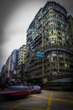 Táxis na estrada de Nathan em Hong Kong foto de stock