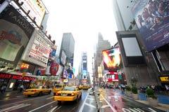 Táxis nos Times Square Fotografia de Stock