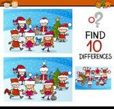 Tâche de différences de Noël pour des enfants illustration libre de droits